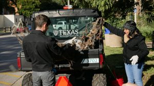 Volunteers help to cleanup Waller Creek at the EHS biannual event