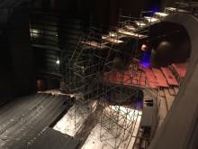 Bass Concert Hall mid-construction