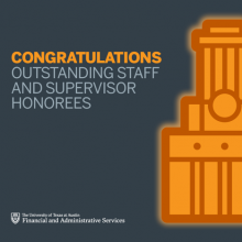 Outstanding Staff and Supervisor Honorees