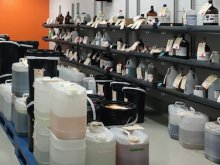 EHS chemical waste storage at the Material Transfer Center (MTC)