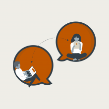 Avoid in-person meetings illustration