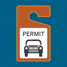 Graphic representation of UT PTS parking permit