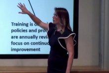 ProCard Manager Sara Palacios presented at a ProCard Town Hall in January