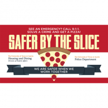 Safer by the Slice Graphic Ad