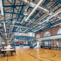Stormwater management has been incorporated into the Anna Hiss Gym (AHG) renovation. The south wing main lab renovation, shown here, was completed in May 2020.