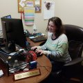 Mary Kemp working