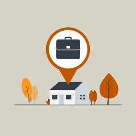Remote work graphic representation